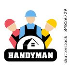 Vector illustration of Handyman concept - stock vector