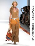 NEW YORK - SEPTEMBER 13: Model walks runway for Argentina Designers collection by Cardon at Mercedes-Benz Spring/Summer 2012 Fashion Week on September 13, 2011 in New York City - stock photo