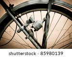 old bike dynamo - stock photo