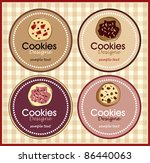 chocolate cookie set of banners - stock vector
