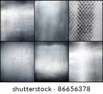 Set metal plate steel background. Number 3 - stock photo