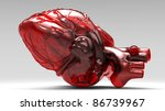 Model of artificial human heart - stock photo