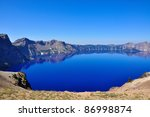 Crater Lake, Oregon - stock photo