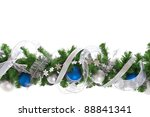 New Year and Christmas border. - stock photo