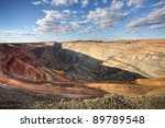 Open Pit Gold Mine in Kalgorlie, Western Australia - stock photo