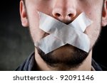 Freedom of Speech - stock photo