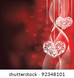 Valentine's day backround. - stock vector