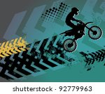 Motocross background, vector illustration - stock vector