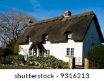 House sweet home - traditional english building - stock photo