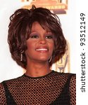 27FEB98:  Singer WHITNEY HOUSTON at the Soul Train Awards where she was presented with the 1998 Quincy Jones Award for Career Achievement. - stock photo