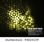 Abstract background with led lights in circle - stock vector