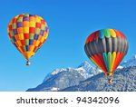 Hot air ballon - stock photo