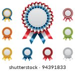 Vector award badges set - stock vector