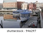 water taxi dock in baltimore maryland's inner harbor - stock photo