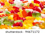 Mix of jelly teddies - stock photo