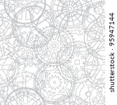 Seamless texture from the time gears - vector illustration - stock vector