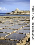 Xwejni salt pans, Gozo, Malta - stock photo