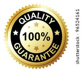 Quality guarantee - stock vector
