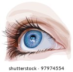 blue eye - vector illustration / eps10 - stock vector