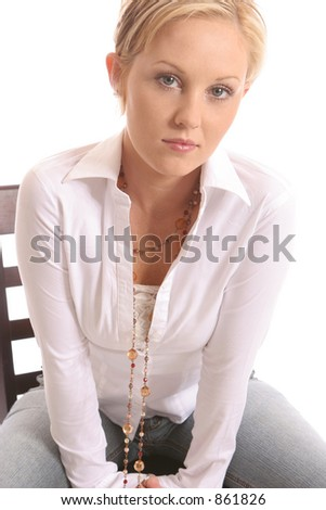 seated girl trying to solve a