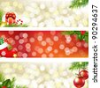 3 Christmas Banners - stock photo