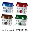 3D houses Jpeg - stock photo