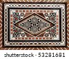 Arabic mosaic pattern - stock photo
