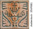 Aztec style wall decoration - stock photo