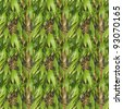Bamboo Seamless Pattern - stock photo