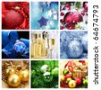 Christmas Holiday Collage - stock photo