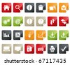 Computer and Internet Icon Set. Tag and Label Style - stock photo