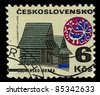 CZECHOSLOVAKIA -CIRCA 1971:A stamp printed in Czechoslovakia shows image of Orava is the traditional name of a region situated in northern Slovakia and partially also in southern Poland, circa 1971. - stock photo