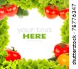 Fresh vegetable frame - stock photo