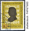 GERMANY - CIRCA 1956: A stamp printed in Germany shows Robert Schumann, circa 1956 - stock photo