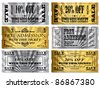 Gold and Silver tickets. Money Off and Free Admittance - stock photo