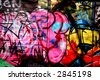 graffiti and shadows - stock photo