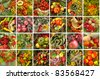 harvest collage - stock photo