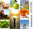 Healthy lifestyle concept. Diet and fitness - stock photo