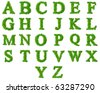 High resolution grass font collection isolated on white - stock photo