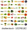 huge vegetable collection isolated on a white background, all pieces individually photographed in studio and no shade so its easy to select. - stock photo