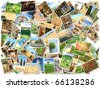Many different images of Italy - stock photo