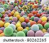 plastic balls - stock photo