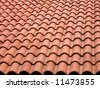 Red Roof Background - stock photo