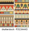 Set of ancient egyptian ornament, seamless pattern - stock photo