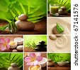 SPA still life collage - stock photo