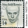 USA - CIRCA 1985: A stamp printed in the USA, shows Harry Sinclair Lewis, circa 1985 - stock photo
