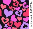 valentine seamless hearts pattern Raster version - stock photo