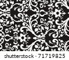 black&white wallpaper vector design for background - stock vector
