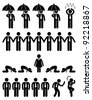Business Finance Situation Concept in Office Workplace Icon Pictogram - stock vector