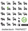Car service icons, Set 04 - stock vector